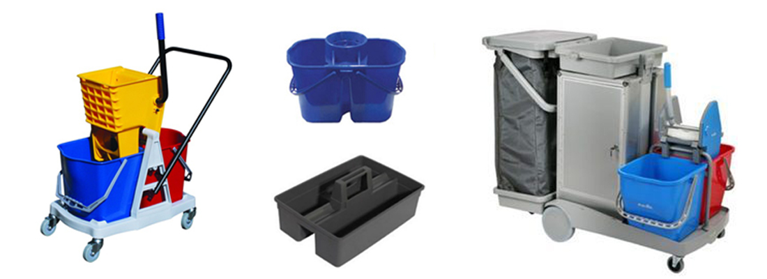 Plastic Buckets Trolleys & Carts